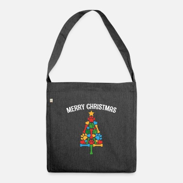 Christmas Market Merry christmas party gift family - Shoulder Bag recycled