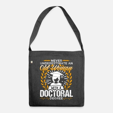 Medicine Old Woman With A Doctoral Degree - Shoulder Bag recycled
