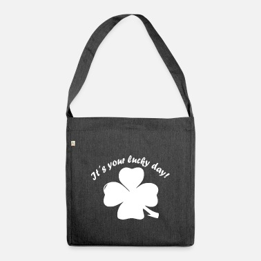 New Year's Day Shamrock, Lucky Day, New Year, New Year's Eve - Shoulder Bag recycled