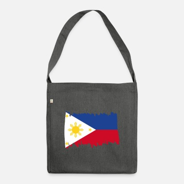 Patriot Philippines National Flag - brush vertical - Umhängetasche aus Recyclingmaterial