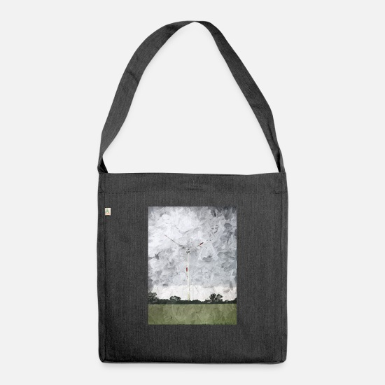 Gift Idea Bags & Backpacks - windmill - Shoulder Bag recycled heather black