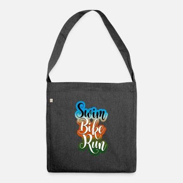 Swim Bike Run swim bike run - Shoulder Bag recycled