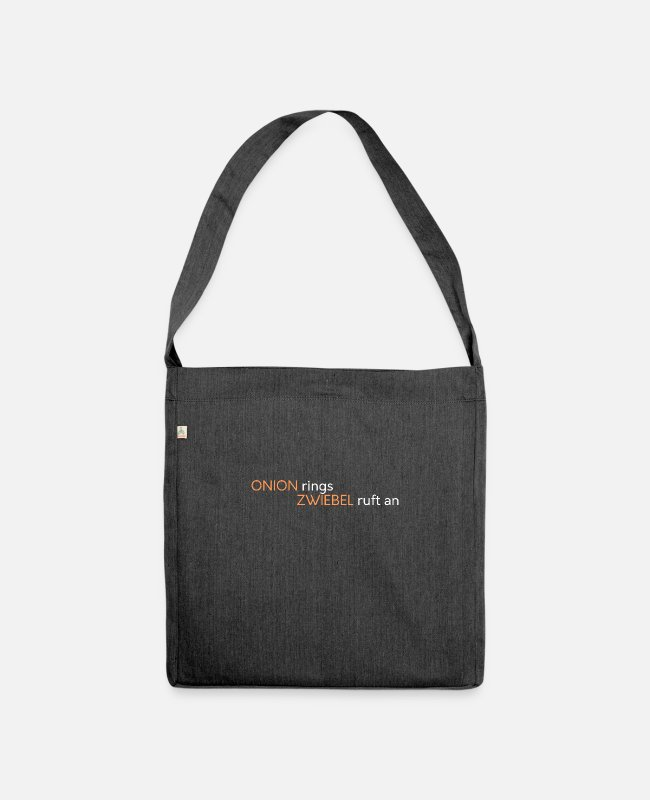 Christmas Bags & Backpacks - Onion rings - Onion calls - Shoulder Bag recycled heather black