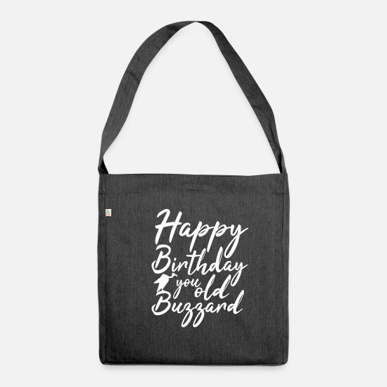 Birthday Bags & Backpacks - Birthday 50 years - Shoulder Bag recycled heather black