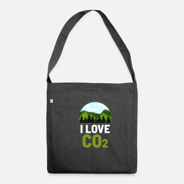 Carbon Dioxide CO2 carbon dioxide - Shoulder Bag recycled