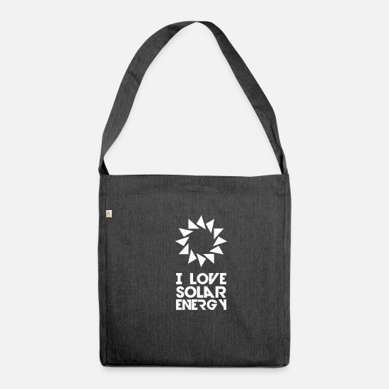 Enviromental Bags & Backpacks - Solar Solar Energy Sun Solar Energy Solar Power - Shoulder Bag recycled heather black