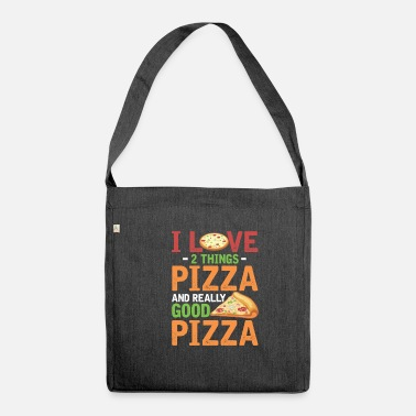 Dinner Fast food pizza slice lovers foodies - Shoulder Bag recycled