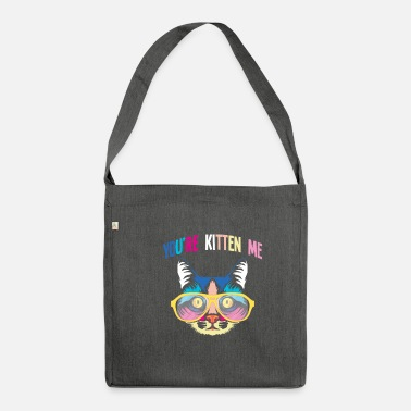 Grine You're Kitten Me Kidding Colourful Cat Solbriller - Skuldertaske af recycling-material