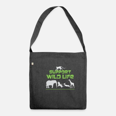 Wild Animal Parks Cute Support Wild Life for Wild Animal Lovers - Shoulder Bag recycled