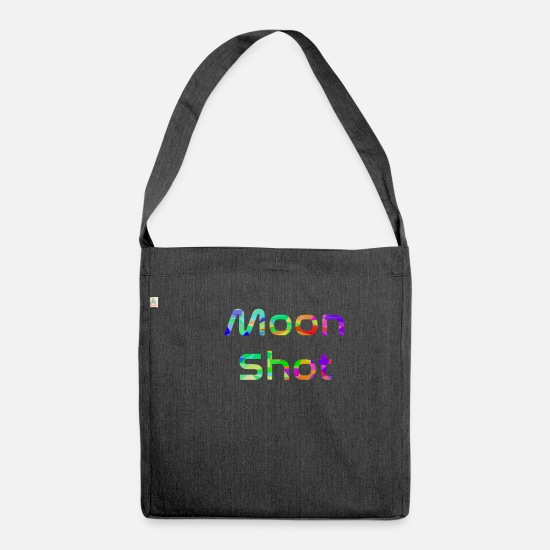 Gift Idea Bags & Backpacks - Moon shot - Shoulder Bag recycled heather black