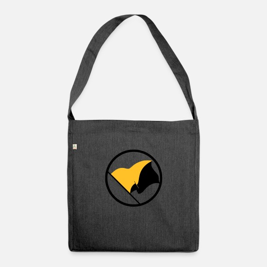 Freedom Bags & Backpacks - Anarcho Capitalism - Shoulder Bag recycled heather black