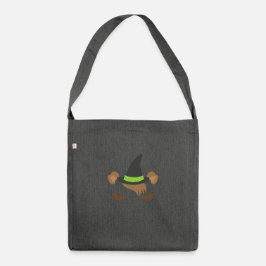 Sleepy little guinea pig witch for HALLOWEEN - Shoulder Bag recycled
