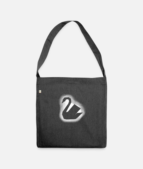 Pregnant Bags & Backpacks - swan - Shoulder Bag recycled heather black