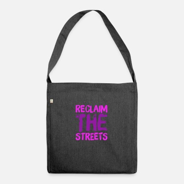 Antifascist Reclaim the streets - Shoulder Bag recycled