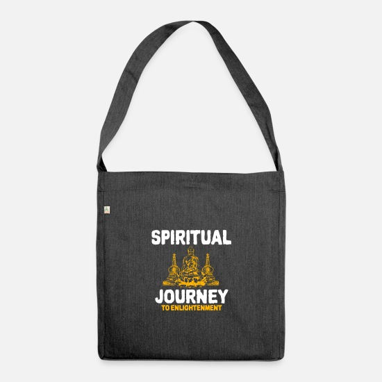 Zen Bags & Backpacks - Buddhism - Shoulder Bag recycled heather black