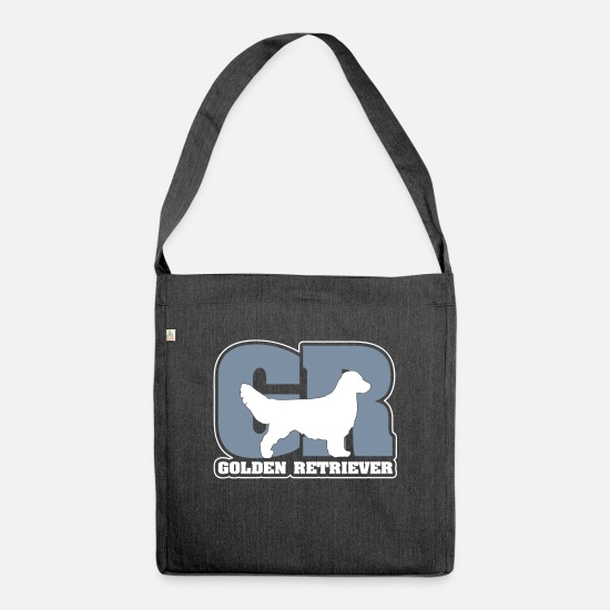 Golden Retriever Bags & Backpacks - GOLDEN RETRIEVER GR - Shoulder Bag recycled heather black