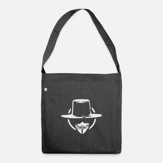 Agent Bags & Backpacks - Anonymous - Shoulder Bag recycled heather black
