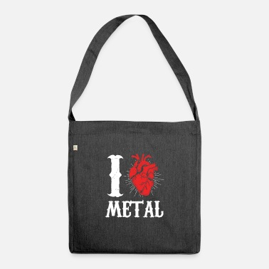 Metal Music I love Metal Music - Shoulder Bag recycled