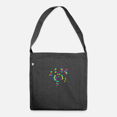 Number Numbers numbers numbers - Shoulder Bag recycled