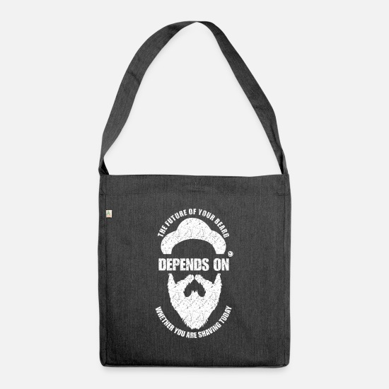 Birthday Bags & Backpacks - The future of your beard depends on .... - Shoulder Bag recycled heather black