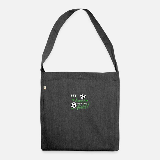 Love Bags & Backpacks - Football fan - Shoulder Bag recycled heather black