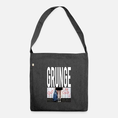 Tekstballon Grunge Girl Graphic - Shoulder Bag recycled