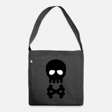 Skull skull and crossbones - Shoulder Bag recycled