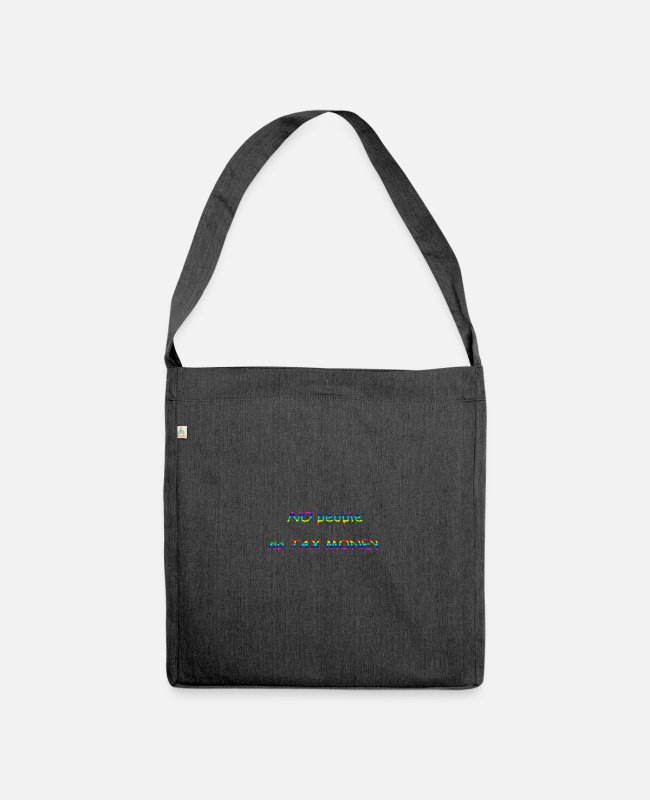 Group Bags & Backpacks - nopeople - Shoulder Bag recycled heather black