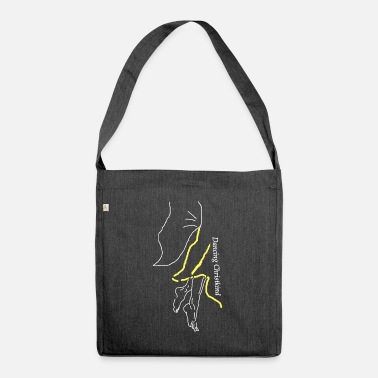 Angelwings dancing Christ Child, Christmas, dancing, wings - Shoulder Bag recycled