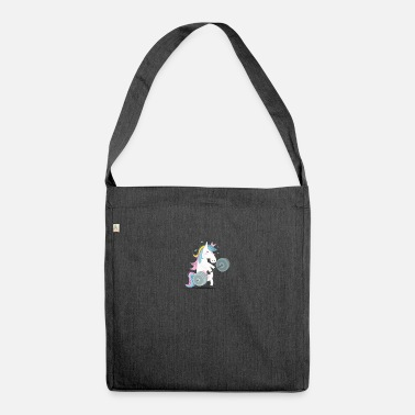 Unicorn Funny Unicorn Gym - Shoulder Bag recycled