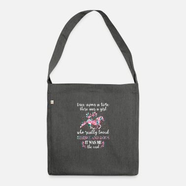 Girl Once Upon A Time There Was A Girl Who Really Love - Shoulder Bag recycled