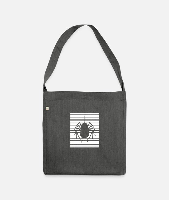 Cobweb Bags & Backpacks - Spider spider insect crawler - Shoulder Bag recycled dark grey heather