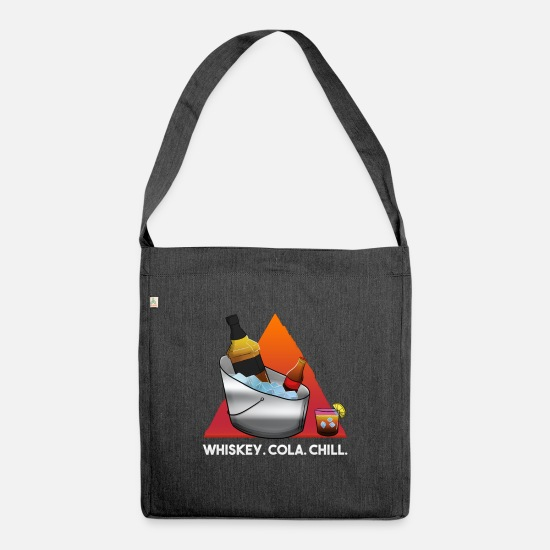 Gift Idea Bags & Backpacks - Whiskey Cola Chill - Shoulder Bag recycled heather black