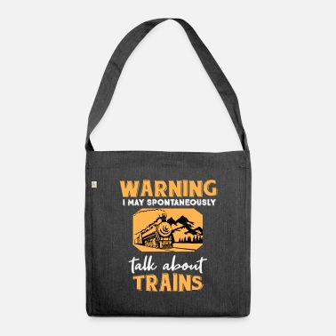 Engine Funny Train Gift Steam Engine Locomotive Railway - Shoulder Bag recycled