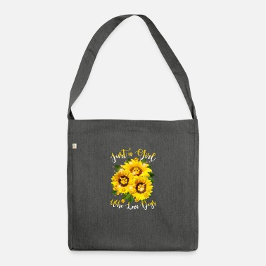 Girl Just a Girl Who Loves Dogs - Shoulder Bag recycled