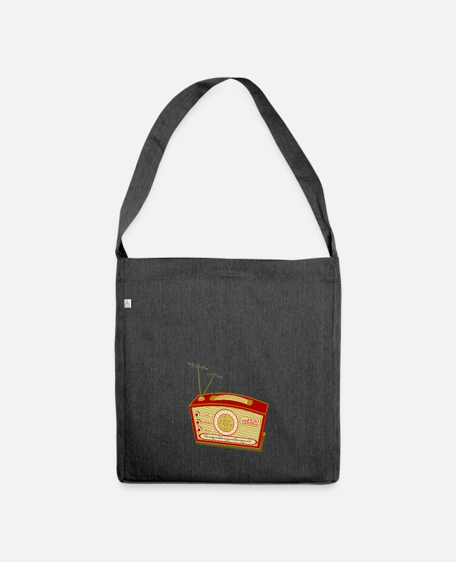 Analogue Bags & Backpacks - Old radio - Shoulder Bag recycled heather black