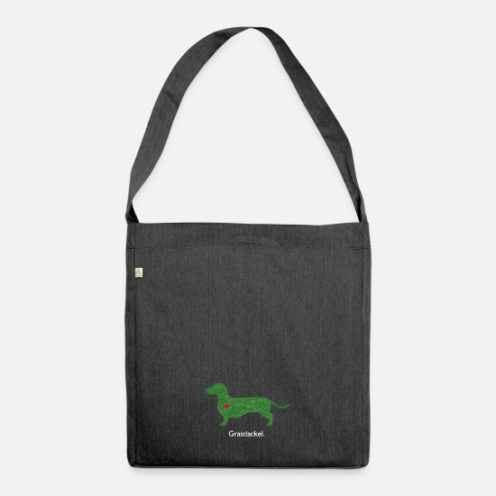 Swabia Bags & Backpacks - grass Dachshund - Shoulder Bag recycled heather black