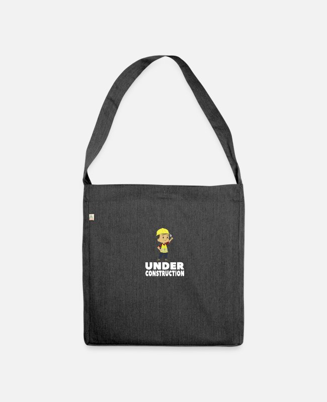 Building Site Bags & Backpacks - Construction - Shoulder Bag recycled heather black