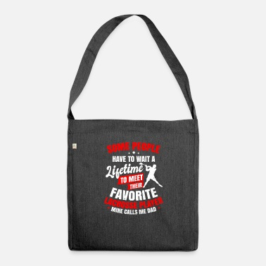 Lacrosse Dad Wait Their Lifetime Gift - Shoulder Bag recycled