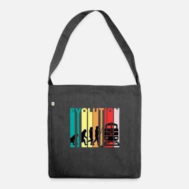 Locomotive Evolution Of Train Driver Gift - Shoulder Bag recycled