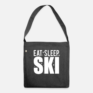 Positive Eat Sleep Ski Repeat Skier Shirt Gift Idea - Shoulder Bag recycled