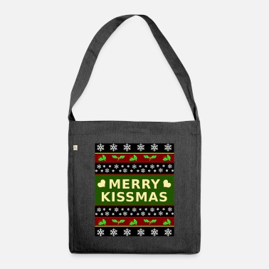 Kissmas Merry Christmas Merry Kissmas - Schoudertas van gerecycled materiaal