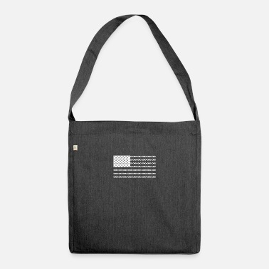Bicycle Chain American Flag - Shoulder Bag recycled