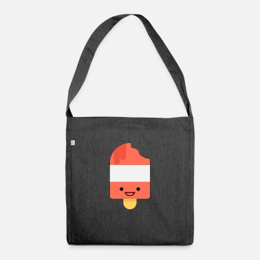 Water Ice Laughing ice cream. Happy water ice. gift - Shoulder Bag recycled