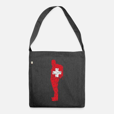 Good Ch Switzerland flag Wanderer Schwiz Suisse CH gift - Shoulder Bag recycled
