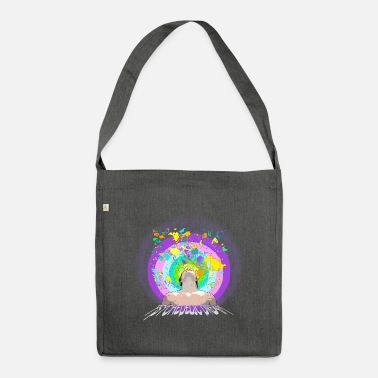 Psychedelic psychedelic - Shoulder Bag recycled