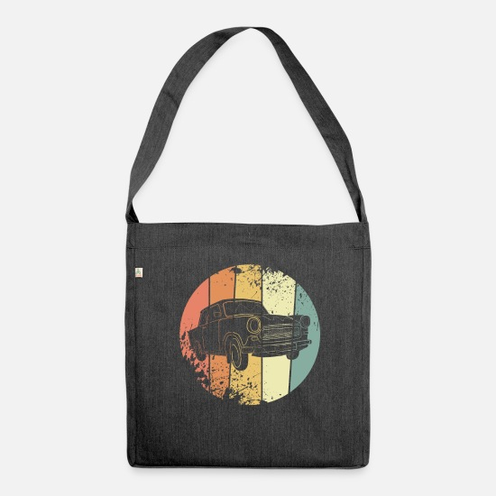 Automobile Bags & Backpacks - Car retro - Shoulder Bag recycled heather black