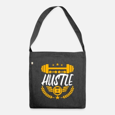 Meme Hustle Funny Fitness Workout Gym Entrepreneur - Shoulder Bag recycled