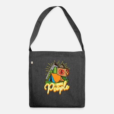 I Hate People Funny Misanthrope & Introvert - Shoulder Bag recycled