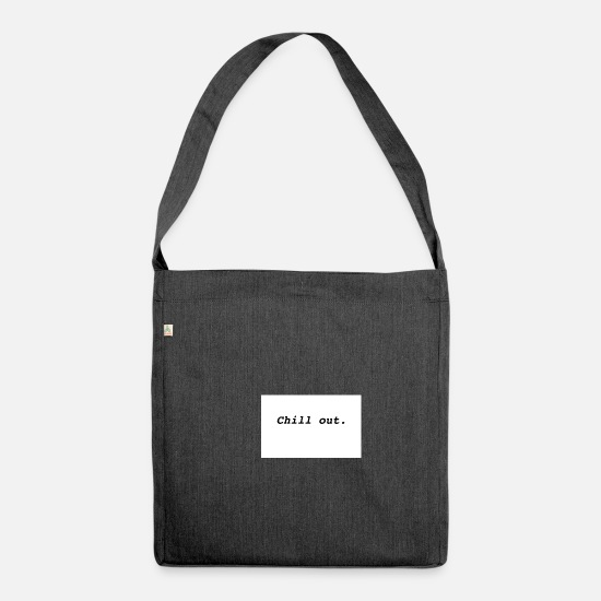Chill Bags & Backpacks - Chill out! - Shoulder Bag recycled heather black